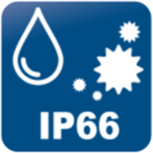 IP66の防水防塵仕様