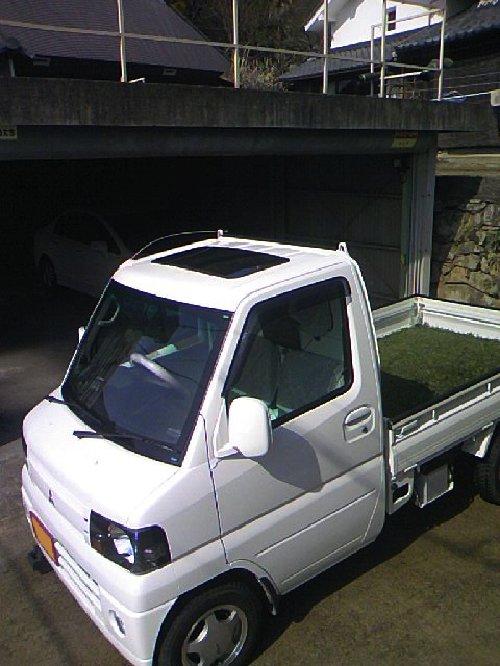 三菱(MITSUBISHI)・ミニキャブ トラック(Minicab truck)への後付サンルーフ(sunroof)取付画像。ベバスト(webasto)ホランディア300デラックス ミディアム(Hollandia 300 Deluxe Medium)04