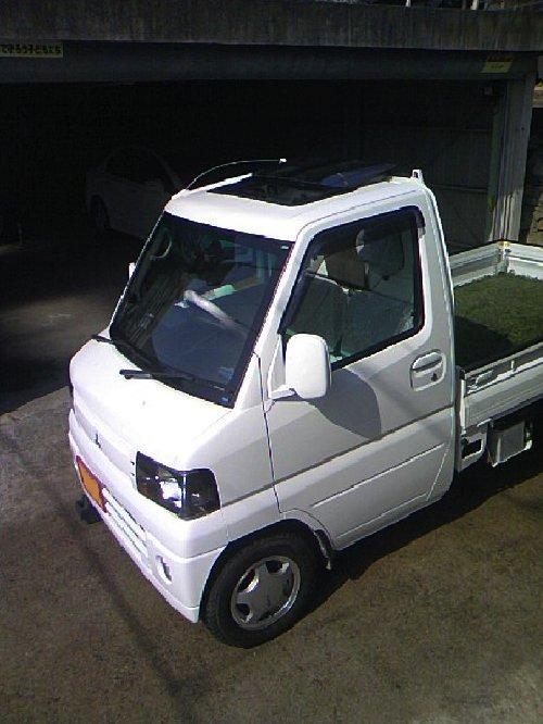 三菱(MITSUBISHI)・ミニキャブ トラック(Minicab truck)への後付サンルーフ(sunroof)取付画像。ベバスト(webasto)ホランディア300デラックス ミディアム(Hollandia 300 Deluxe Medium)05
