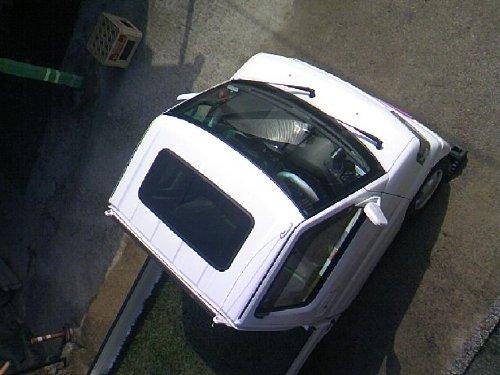三菱(MITSUBISHI)・ミニキャブ トラック(Minicab truck)への後付サンルーフ(sunroof)取付画像。ベバスト(webasto)ホランディア300デラックス ミディアム(Hollandia 300 Deluxe Medium)08