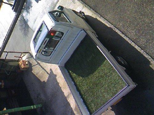 三菱(MITSUBISHI)・ミニキャブ トラック(Minicab truck)への後付サンルーフ(sunroof)取付画像。ベバスト(webasto)ホランディア300デラックス ミディアム(Hollandia 300 Deluxe Medium)09