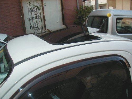 スズキ(SUZUKI)・ツイン(TWIN)への後付サンルーフ(sunroof)取付画像。ベバスト(webasto)ホランディア100デラックス(Hollandia 100 Deluxe)手動式